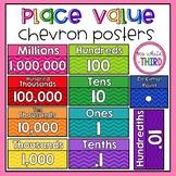 Place Value Posters (chevron)