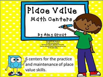 Place Value Potpourri:Set of 6 Place Value Math Centers