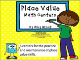 Place Value Potpourri:Set of 6 Place Value Math Centers