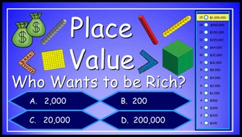 Place Value Power Point Millionaire Game (4th Grade)