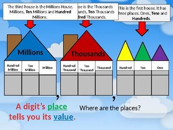 Place Value Powerpoint 4.NBT.1, 4.NBT.2 (editable)