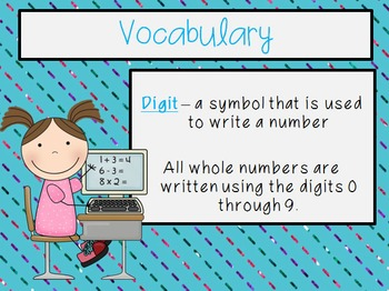 Place Value - Powers of 10 PowerPoint, Note Taker, and Practice Handout
