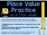 Place Value Practice - 2 Math Centers - (use with and without decimals)