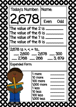 Place Value Daily Number Work