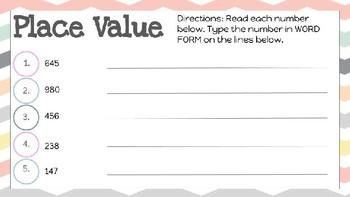 Place Value Practice