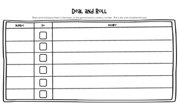 Place Value Practice: Deal and Roll