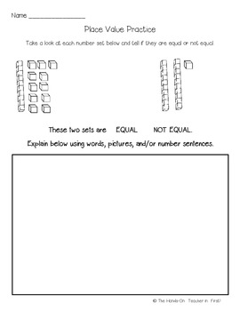 Place Value Practice FREEBIE