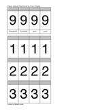 Place Value Practice Flip Book-4th digit