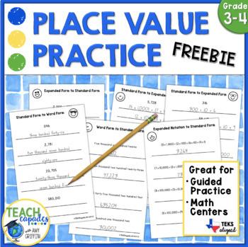 Place Value Practice Freebie