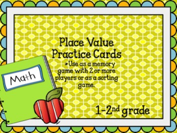 Place Value Practice Game/ Center for 1-2nd grade
