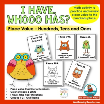 Place Value Practice -Grades 1-2- I Have, Who Has?
