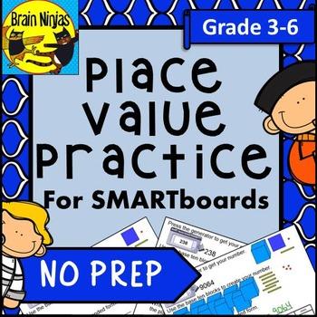 Place Value Interactive SMARTboard Slides