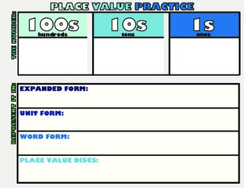 Place Value Practice Mat
