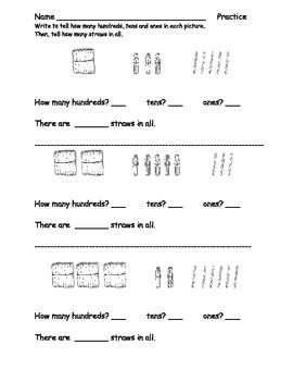 Place Value Practice Pack: Ones, Tens, Hundreds: Supports EngageNY