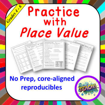 Place Value Practice Pages