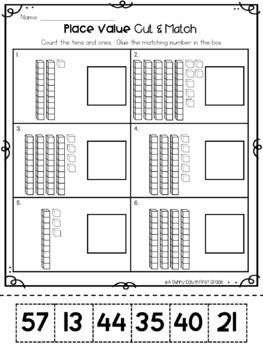 Place Value Practice Pages {tens & ones}
