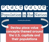 Place Value Practice Pages with Populations of Capitals