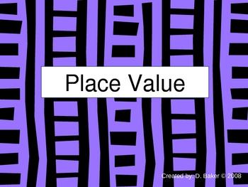 Place Value Practice Power Point Presentation