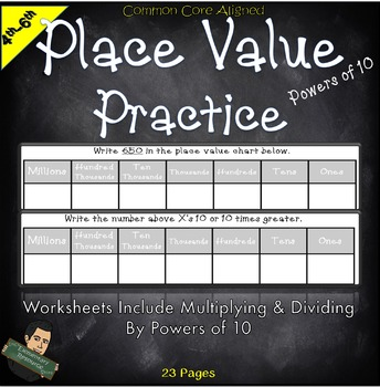 Place Value Practice Powers of Ten