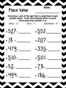 Place Value Practice Printables