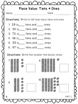 Place Value Practice Sheets By Brandy Shoemaker Tpt