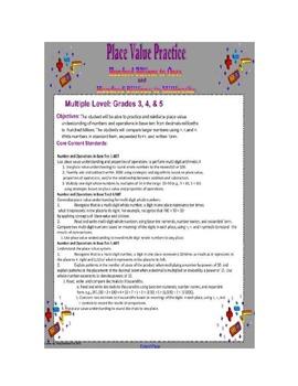 Place Value Practice Smartboard Lesson Gr. 3-5