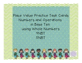 Place Value Practice Task Cards Base Ten using Whole Numbers