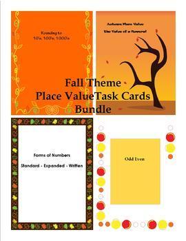 Place Value Practice Task Cards Bundle
