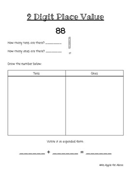 Place Value Practice (Two/Three Digit )