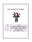 Place Value Practice Worksheets Grade 3 Valentine Themed