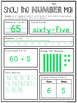 Number Sense to 100 Place Value Worksheets Number of the Day RTI/Differentiated