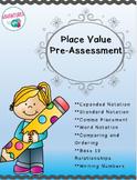 Place Value Pre-Assessment