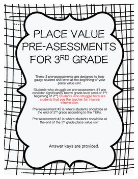 Place Value Pre-Assessments