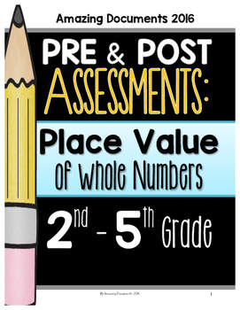 65 Place Value: Pre and Post Assessments