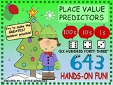 Christmas Math Games ~ Place Value Predictors