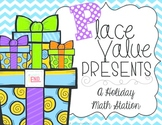 Place Value Presents {Holiday, Christmas Math Station} Math Station Printable