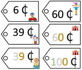 Place Value Price Tags - Circus Theme