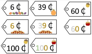 Place Value Price Tags - Fall Theme