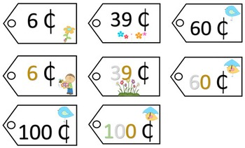 Place Value Price Tags - Spring Theme