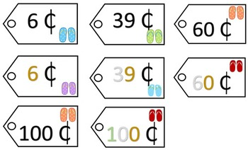 Place Value Price Tags - Summer Theme