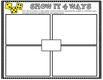 Place Value Printable **FREEBIE**