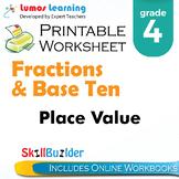 Place Value Printable Worksheet, Grade 4