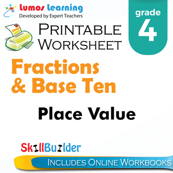 Place Value Printable Worksheet, Grade 4
