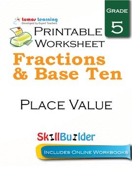 Place Value Printable Worksheet, Grade 5