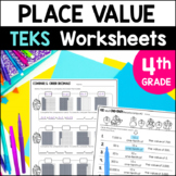 Place Value Printables 4th Grade TEKS by Marvel Math