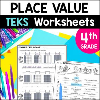 place value printables 4th grade teks by marvel math by marvel math. Black Bedroom Furniture Sets. Home Design Ideas