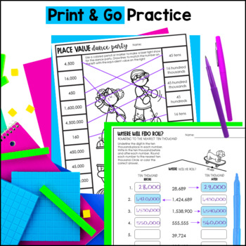 Place Value Printables 4th Grade Teks By Marvel Math By Marvel Math