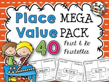 Place Value Printables - Middle Grades