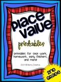 Place Value Printables {Second Grade}