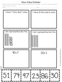 Place Value Problem (a simple and quick Base 10 worksheet)